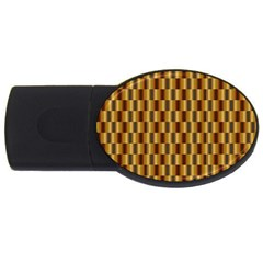 Gold Abstract Wallpaper Background Usb Flash Drive Oval (2 Gb)