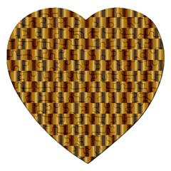 Gold Abstract Wallpaper Background Jigsaw Puzzle (heart)