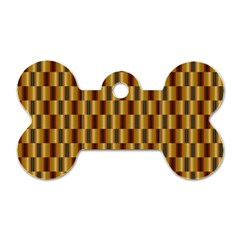 Gold Abstract Wallpaper Background Dog Tag Bone (two Sides)