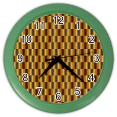 Gold Abstract Wallpaper Background Color Wall Clocks