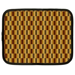 Gold Abstract Wallpaper Background Netbook Case (large)
