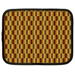 Gold Abstract Wallpaper Background Netbook Case (xl)