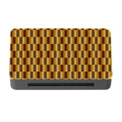 Gold Abstract Wallpaper Background Memory Card Reader with CF
