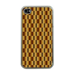 Gold Abstract Wallpaper Background Apple iPhone 4 Case (Clear)