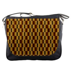 Gold Abstract Wallpaper Background Messenger Bags