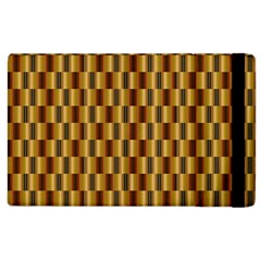 Gold Abstract Wallpaper Background Apple iPad 3/4 Flip Case