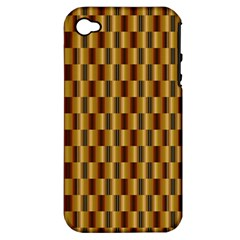 Gold Abstract Wallpaper Background Apple Iphone 4/4s Hardshell Case (pc+silicone)