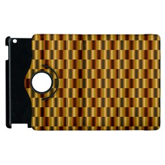 Gold Abstract Wallpaper Background Apple iPad 3/4 Flip 360 Case