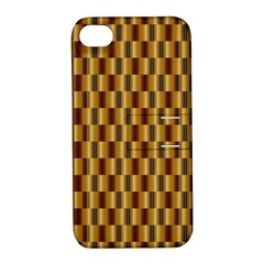 Gold Abstract Wallpaper Background Apple Iphone 4/4s Hardshell Case With Stand