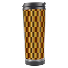 Gold Abstract Wallpaper Background Travel Tumbler