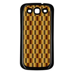 Gold Abstract Wallpaper Background Samsung Galaxy S3 Back Case (Black)