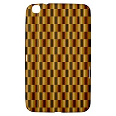 Gold Abstract Wallpaper Background Samsung Galaxy Tab 3 (8 ) T3100 Hardshell Case