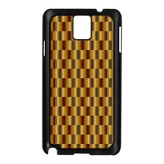 Gold Abstract Wallpaper Background Samsung Galaxy Note 3 N9005 Case (Black)