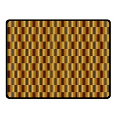 Gold Abstract Wallpaper Background Double Sided Fleece Blanket (Small)