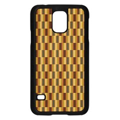 Gold Abstract Wallpaper Background Samsung Galaxy S5 Case (Black)