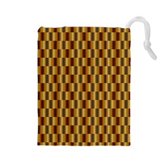 Gold Abstract Wallpaper Background Drawstring Pouches (large)