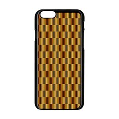 Gold Abstract Wallpaper Background Apple iPhone 6/6S Black Enamel Case