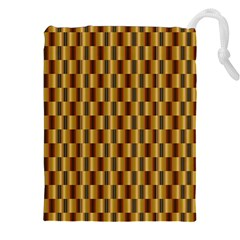 Gold Abstract Wallpaper Background Drawstring Pouches (xxl)