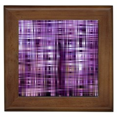 Purple Wave Abstract Background Shades Of Purple Tightly Woven Framed Tiles