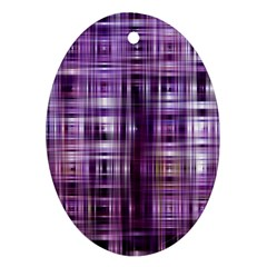 Purple Wave Abstract Background Shades Of Purple Tightly Woven Ornament (Oval)
