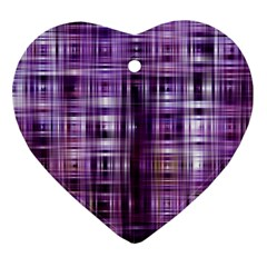 Purple Wave Abstract Background Shades Of Purple Tightly Woven Ornament (Heart)
