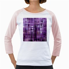 Purple Wave Abstract Background Shades Of Purple Tightly Woven Girly Raglans