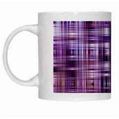 Purple Wave Abstract Background Shades Of Purple Tightly Woven White Mugs
