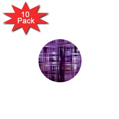 Purple Wave Abstract Background Shades Of Purple Tightly Woven 1  Mini Buttons (10 Pack)