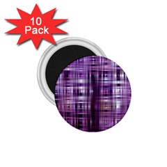Purple Wave Abstract Background Shades Of Purple Tightly Woven 1.75  Magnets (10 pack)