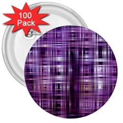 Purple Wave Abstract Background Shades Of Purple Tightly Woven 3  Buttons (100 Pack)