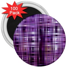 Purple Wave Abstract Background Shades Of Purple Tightly Woven 3  Magnets (100 pack)