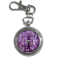 Purple Wave Abstract Background Shades Of Purple Tightly Woven Key Chain Watches