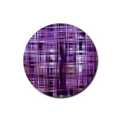 Purple Wave Abstract Background Shades Of Purple Tightly Woven Rubber Round Coaster (4 Pack)
