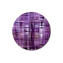 Purple Wave Abstract Background Shades Of Purple Tightly Woven Magnet 3  (round)