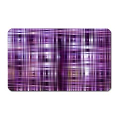Purple Wave Abstract Background Shades Of Purple Tightly Woven Magnet (rectangular)