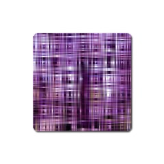 Purple Wave Abstract Background Shades Of Purple Tightly Woven Square Magnet