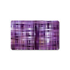 Purple Wave Abstract Background Shades Of Purple Tightly Woven Magnet (name Card)