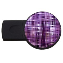 Purple Wave Abstract Background Shades Of Purple Tightly Woven USB Flash Drive Round (1 GB)