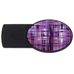 Purple Wave Abstract Background Shades Of Purple Tightly Woven Usb Flash Drive Oval (2 Gb)