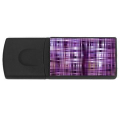 Purple Wave Abstract Background Shades Of Purple Tightly Woven USB Flash Drive Rectangular (1 GB)