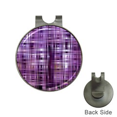 Purple Wave Abstract Background Shades Of Purple Tightly Woven Hat Clips With Golf Markers