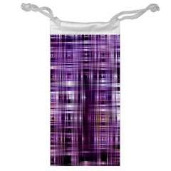 Purple Wave Abstract Background Shades Of Purple Tightly Woven Jewelry Bag