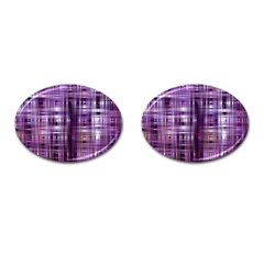 Purple Wave Abstract Background Shades Of Purple Tightly Woven Cufflinks (Oval)