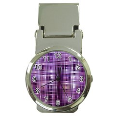 Purple Wave Abstract Background Shades Of Purple Tightly Woven Money Clip Watches
