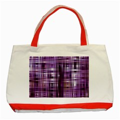 Purple Wave Abstract Background Shades Of Purple Tightly Woven Classic Tote Bag (Red)