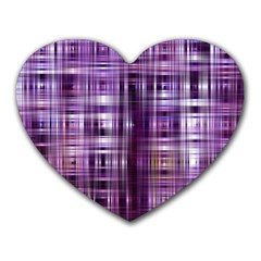 Purple Wave Abstract Background Shades Of Purple Tightly Woven Heart Mousepads
