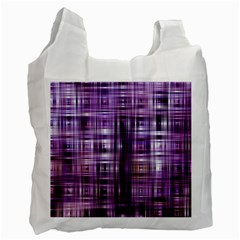 Purple Wave Abstract Background Shades Of Purple Tightly Woven Recycle Bag (two Side)