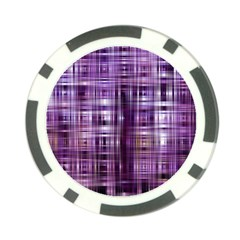 Purple Wave Abstract Background Shades Of Purple Tightly Woven Poker Chip Card Guard (10 Pack)