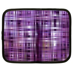Purple Wave Abstract Background Shades Of Purple Tightly Woven Netbook Case (xxl)
