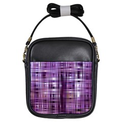 Purple Wave Abstract Background Shades Of Purple Tightly Woven Girls Sling Bags